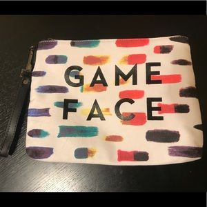 NWOT Milly Game Face Zipper Clutch Wristlet Pouch